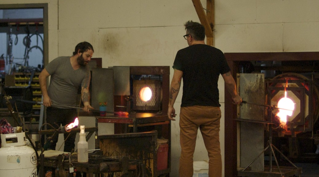 Glass blowing in Wimberley, Texas