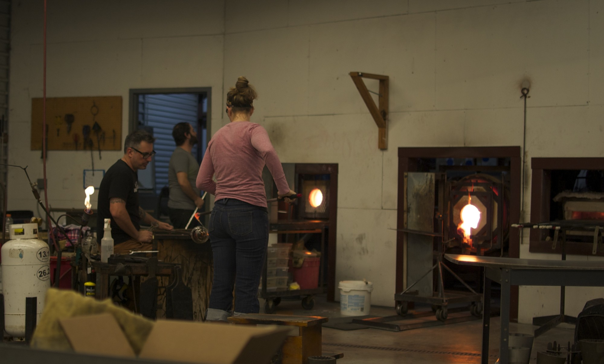 Wrapping molten glass around some more glass