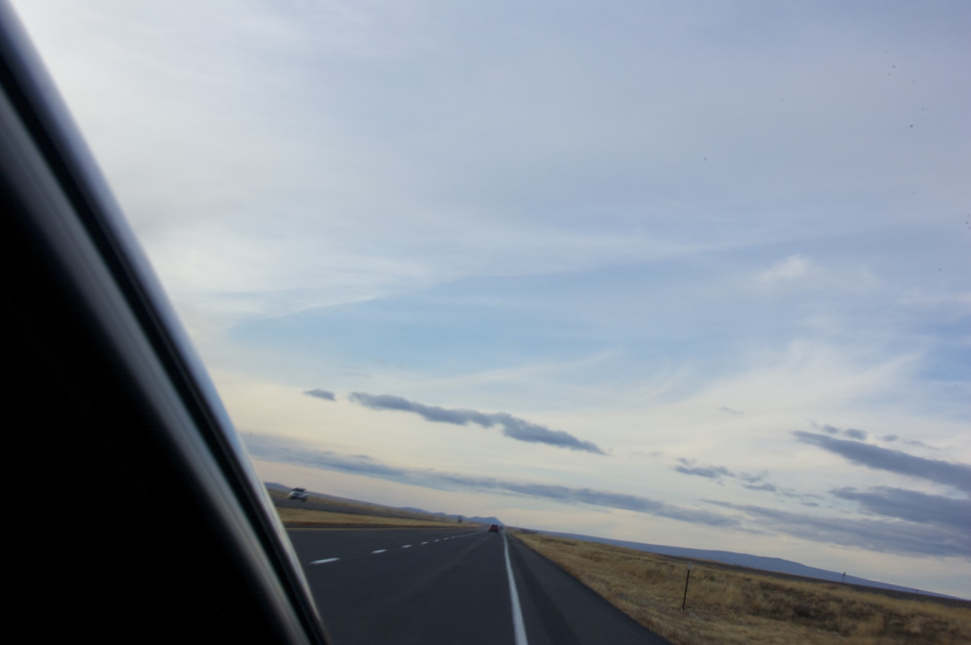 Driving down a northern New Mexico road
