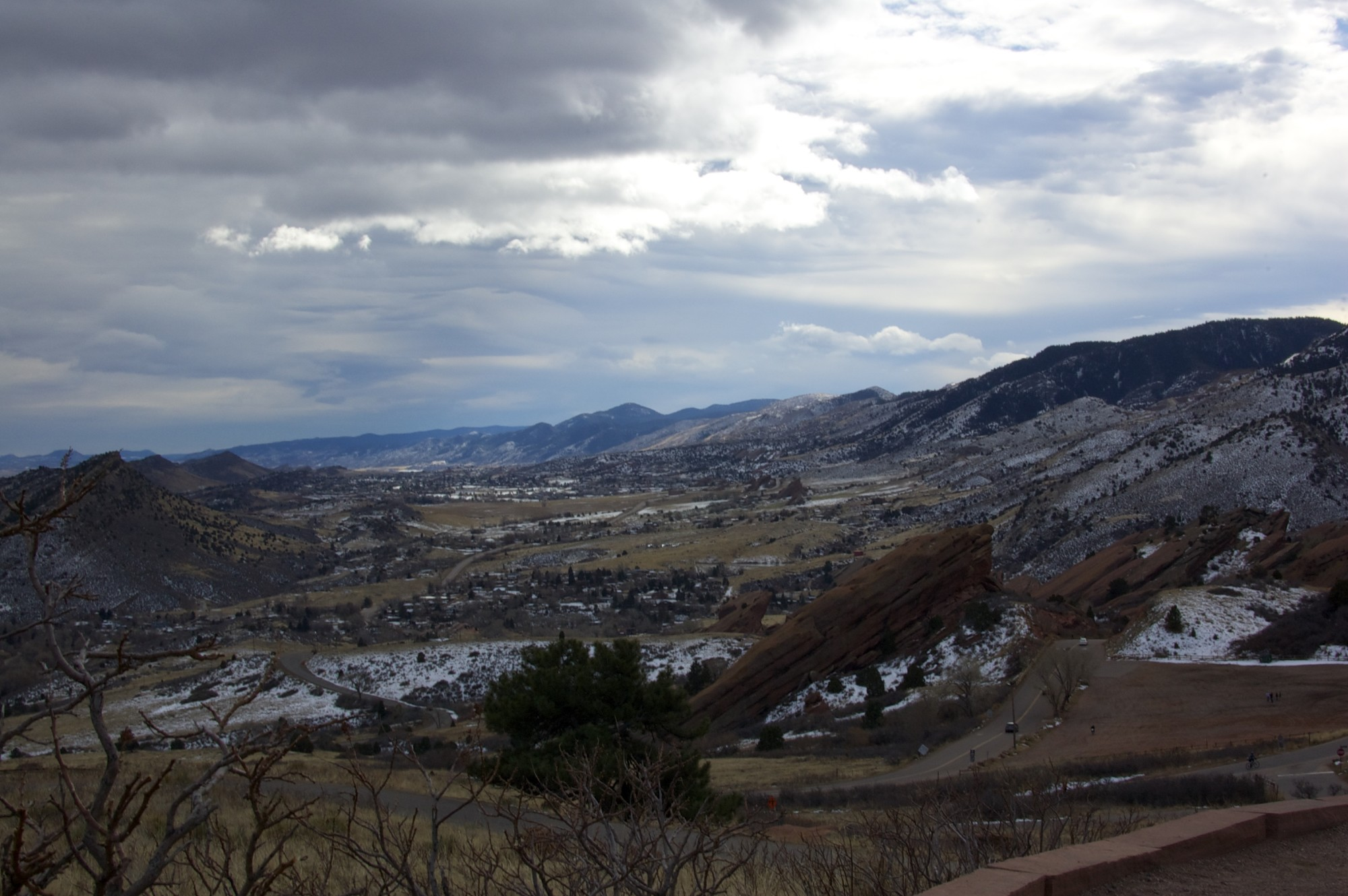 A view from a trail at Red Rocks