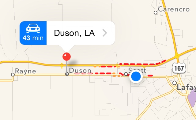10 Mile Backup and Detour