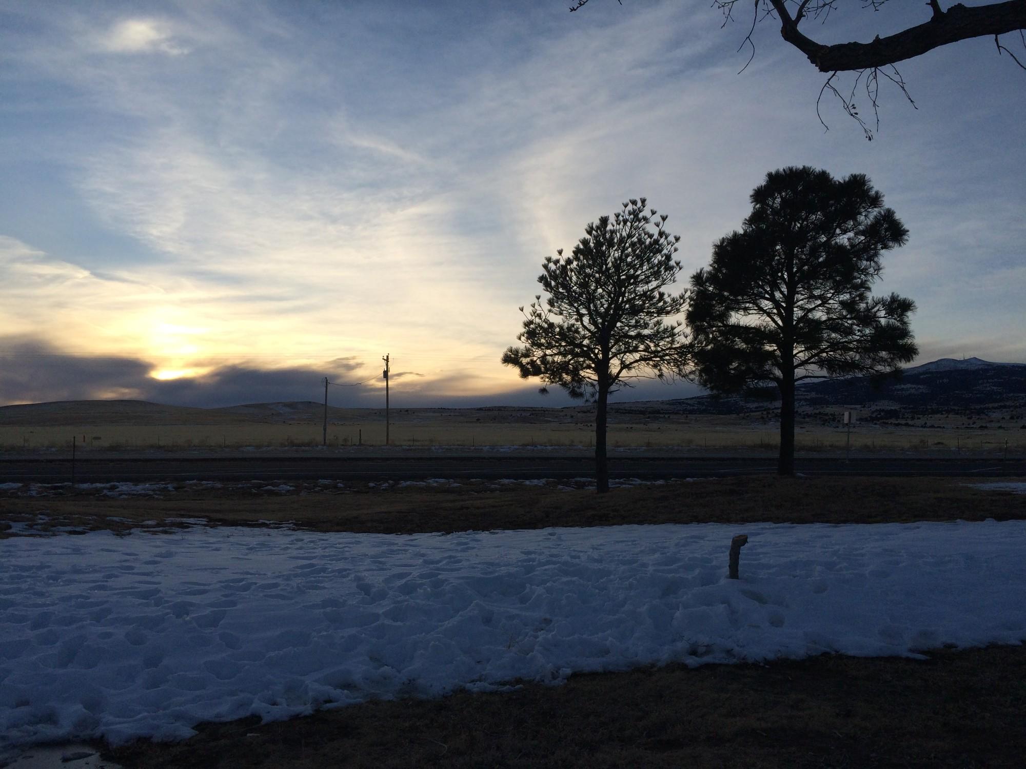 New Mexico sun set