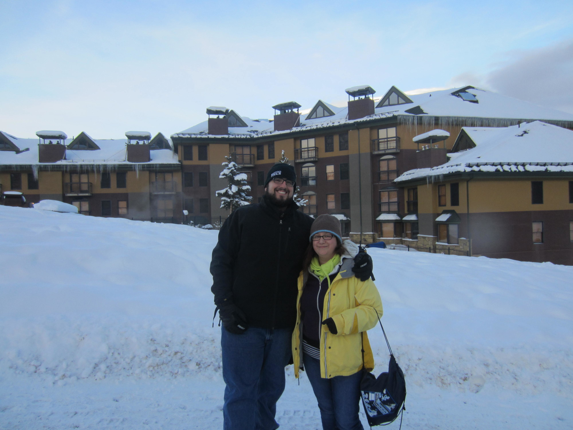 Mandy and I after in front of a gorgeous little condo/hotel in the town.