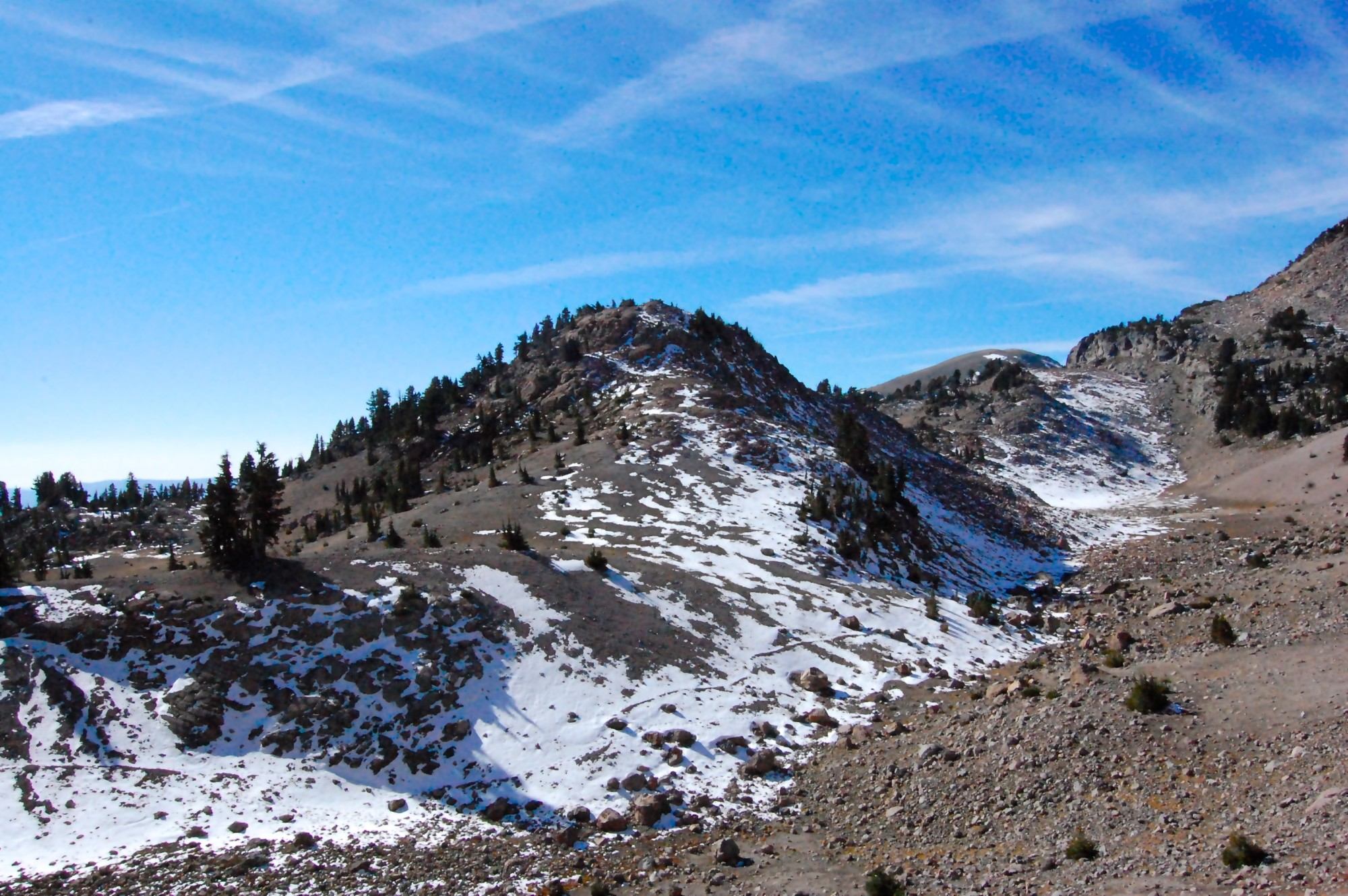 Views on a hike at Lassen Volcanic National Park