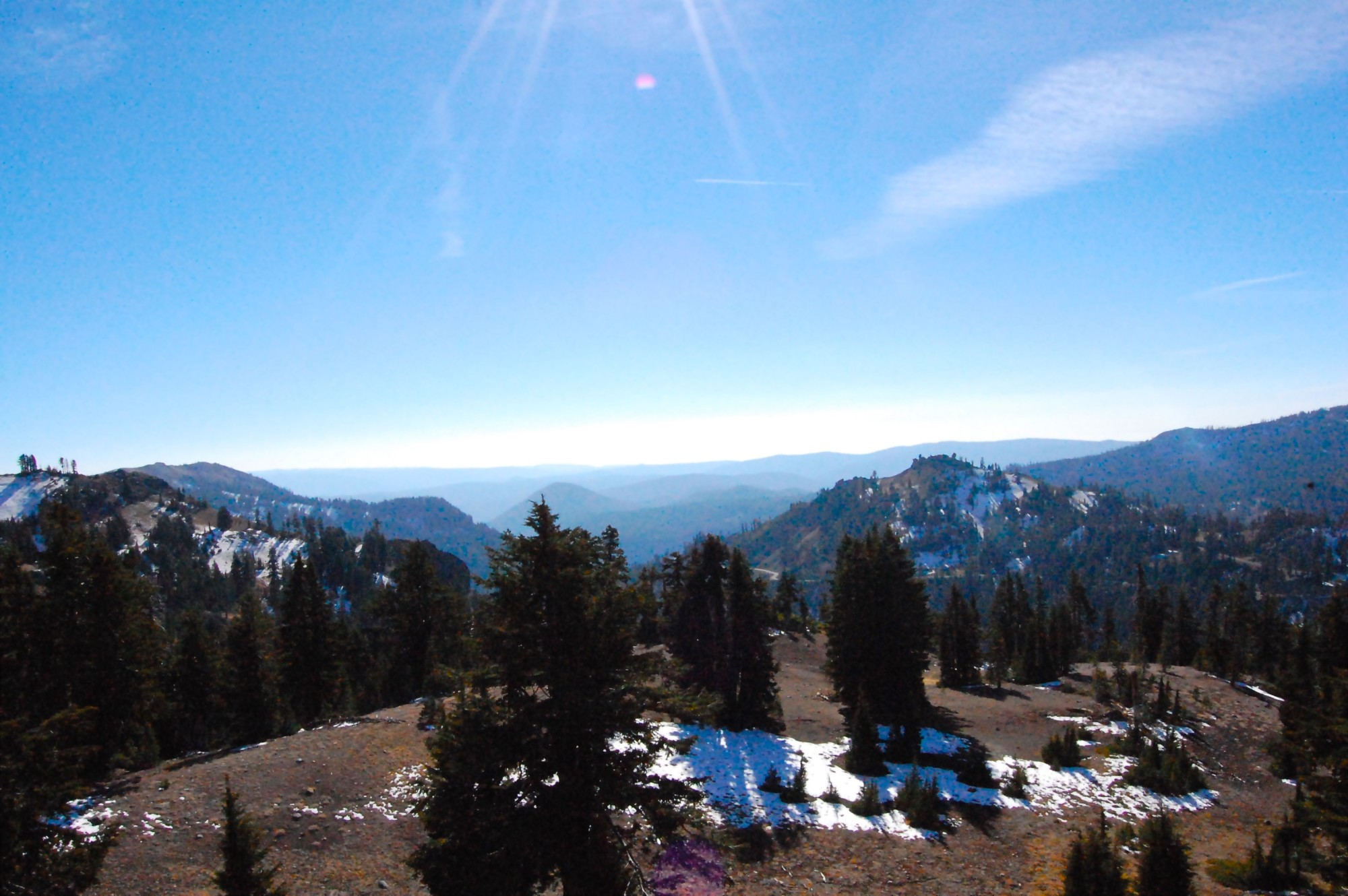 Views from the drive around Lassen Volcanic National Park