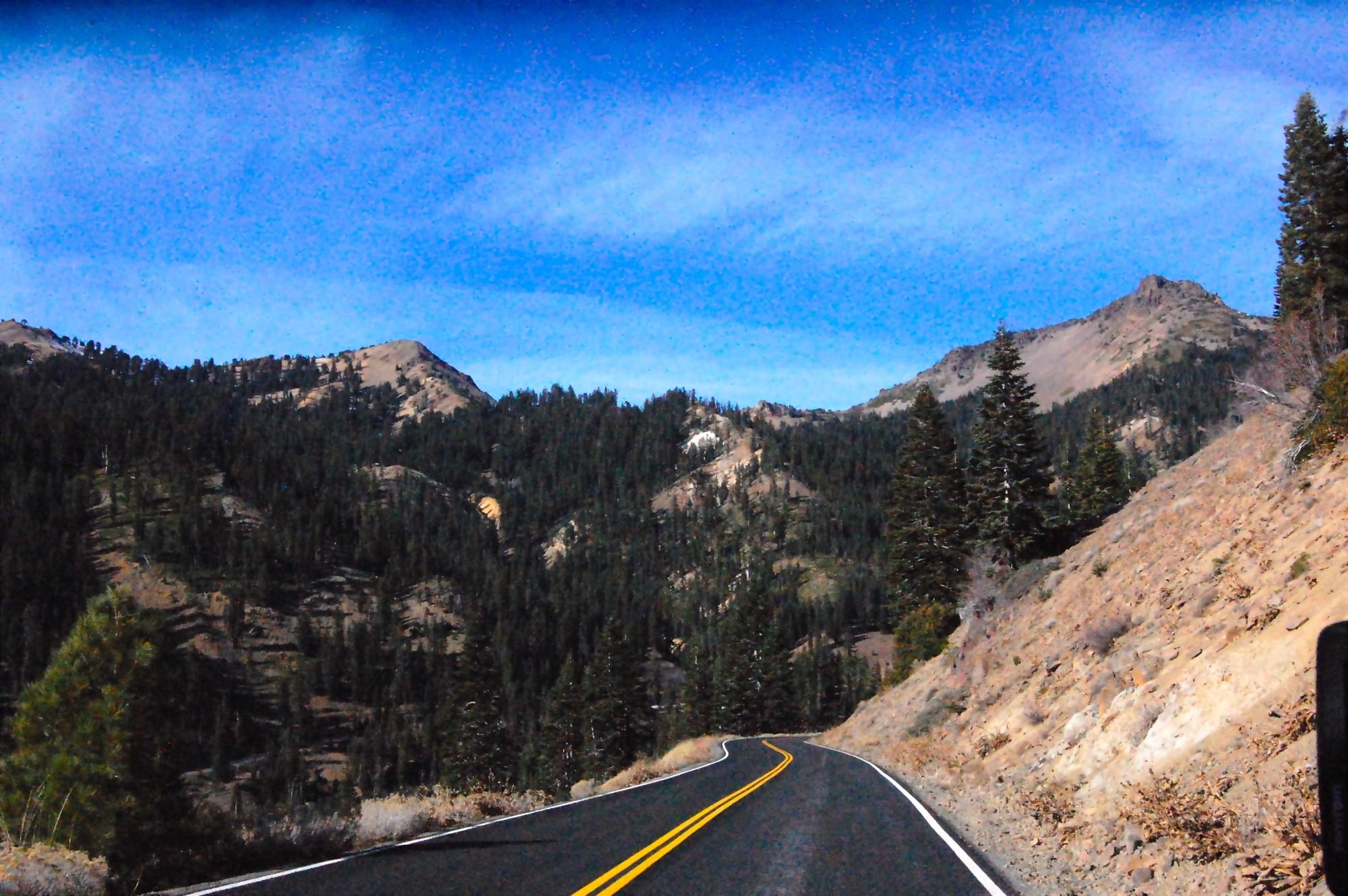 Road at Lassen Volcanic National Park