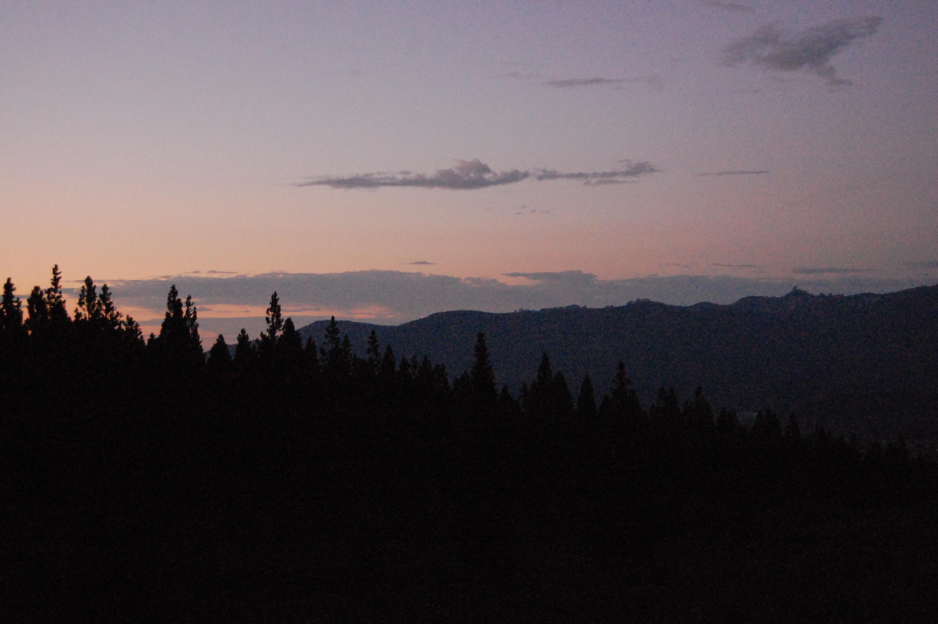 Sun rise on Mount Shasta