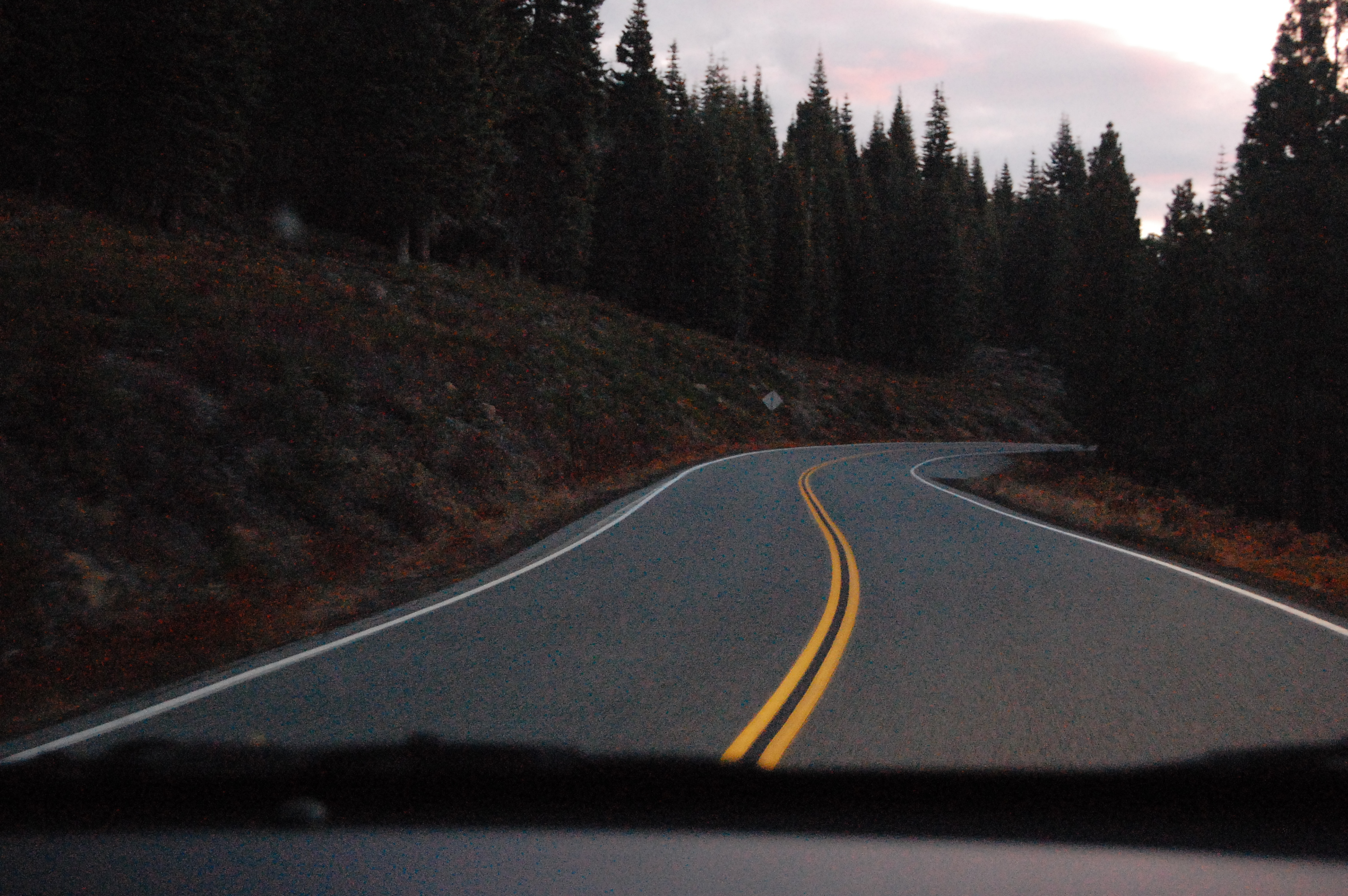 Driving on Mount Shasta