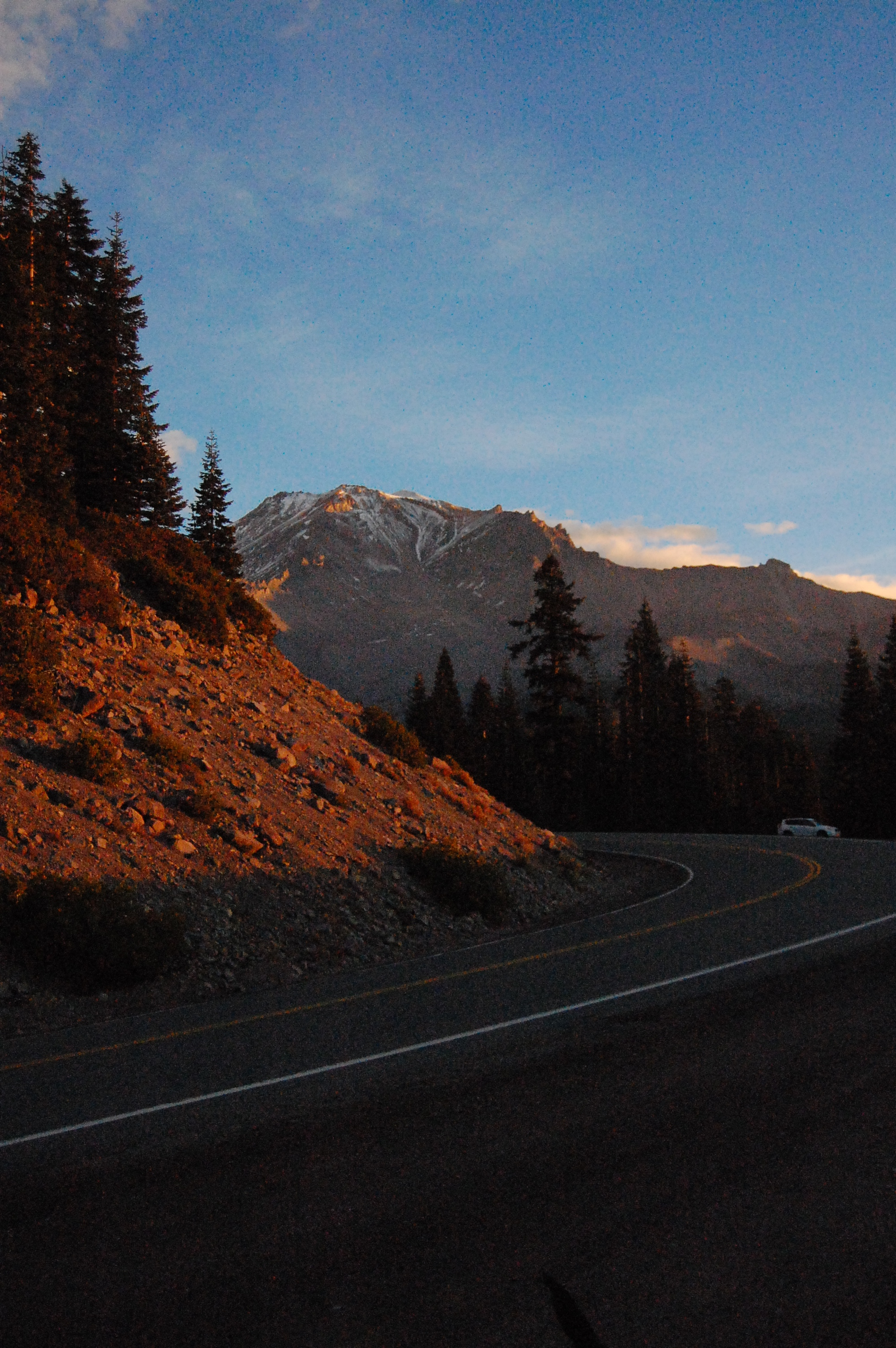 As the sun rose on Mount Shasta