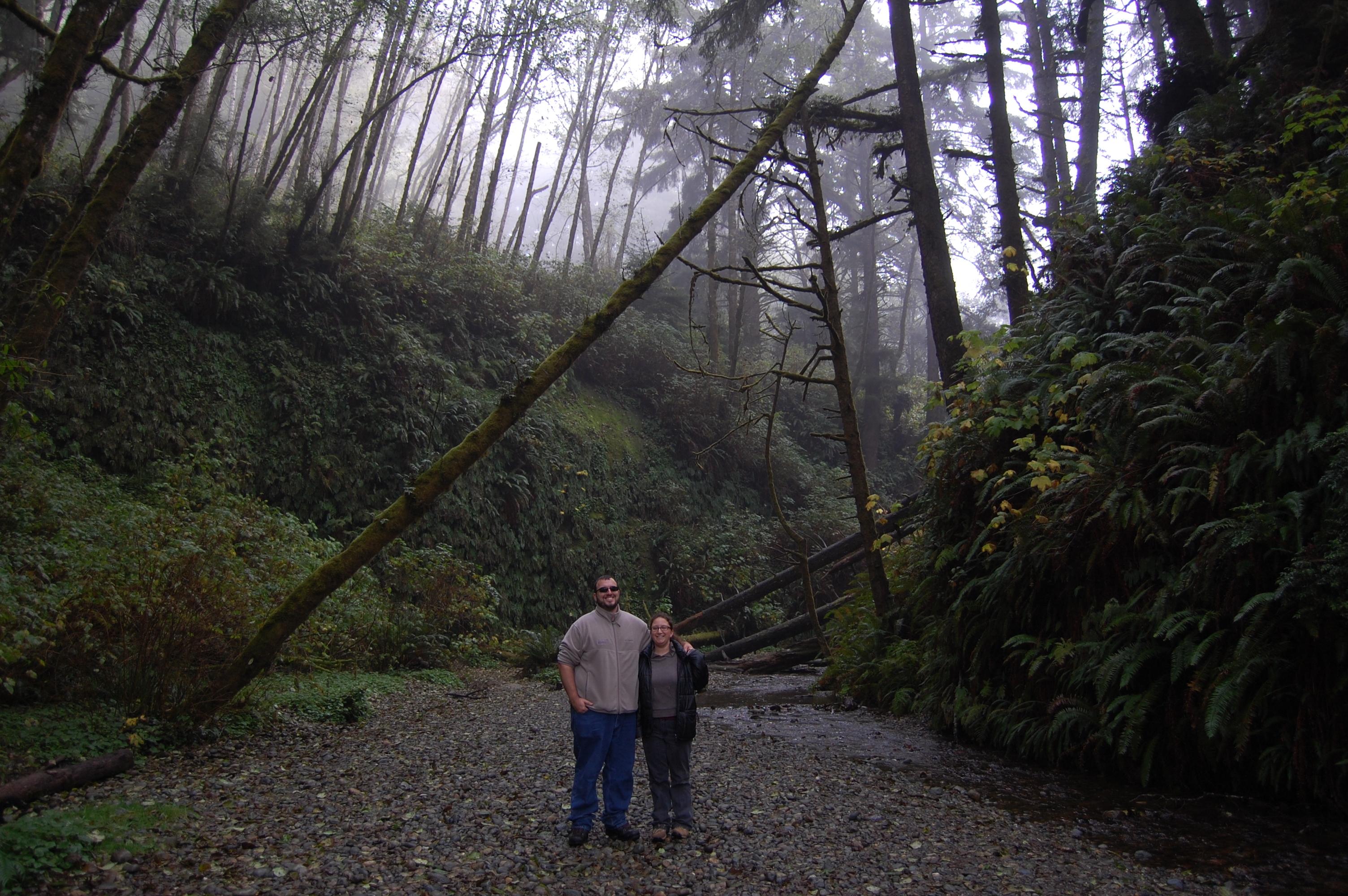 Mandy and John at Fern Canyon