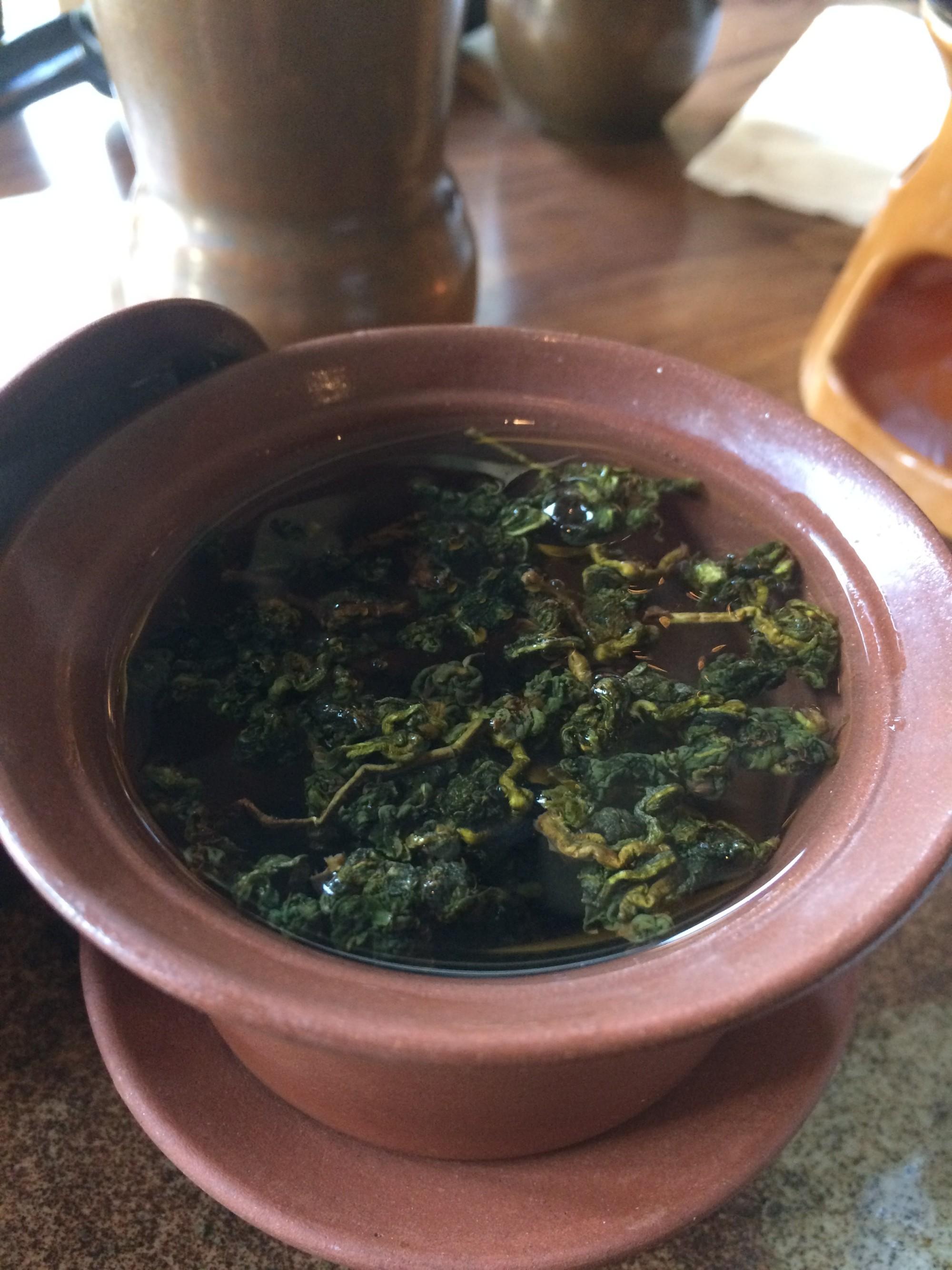 Gaiwan of oolong tea