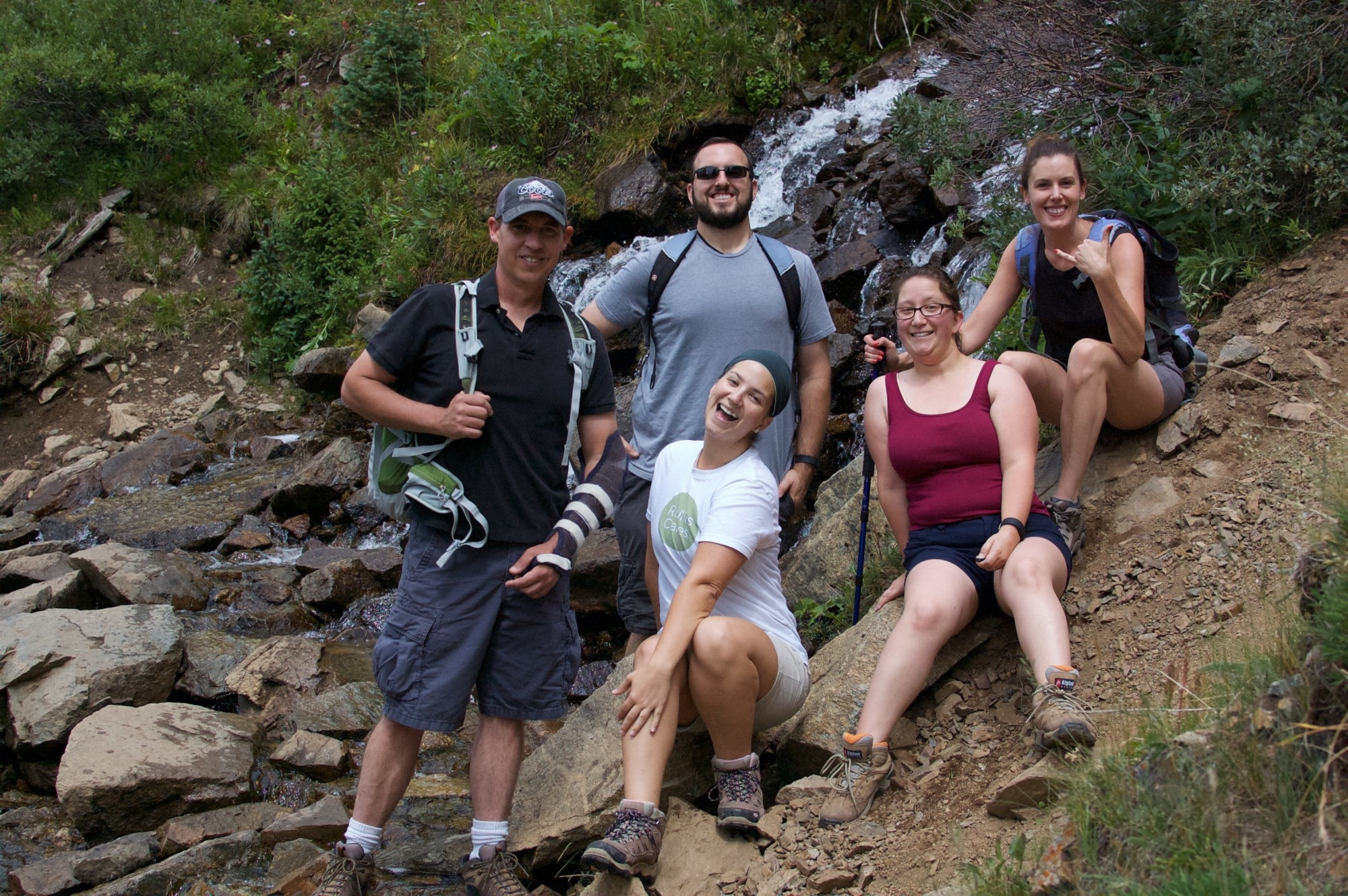 Group of hikers on the trail