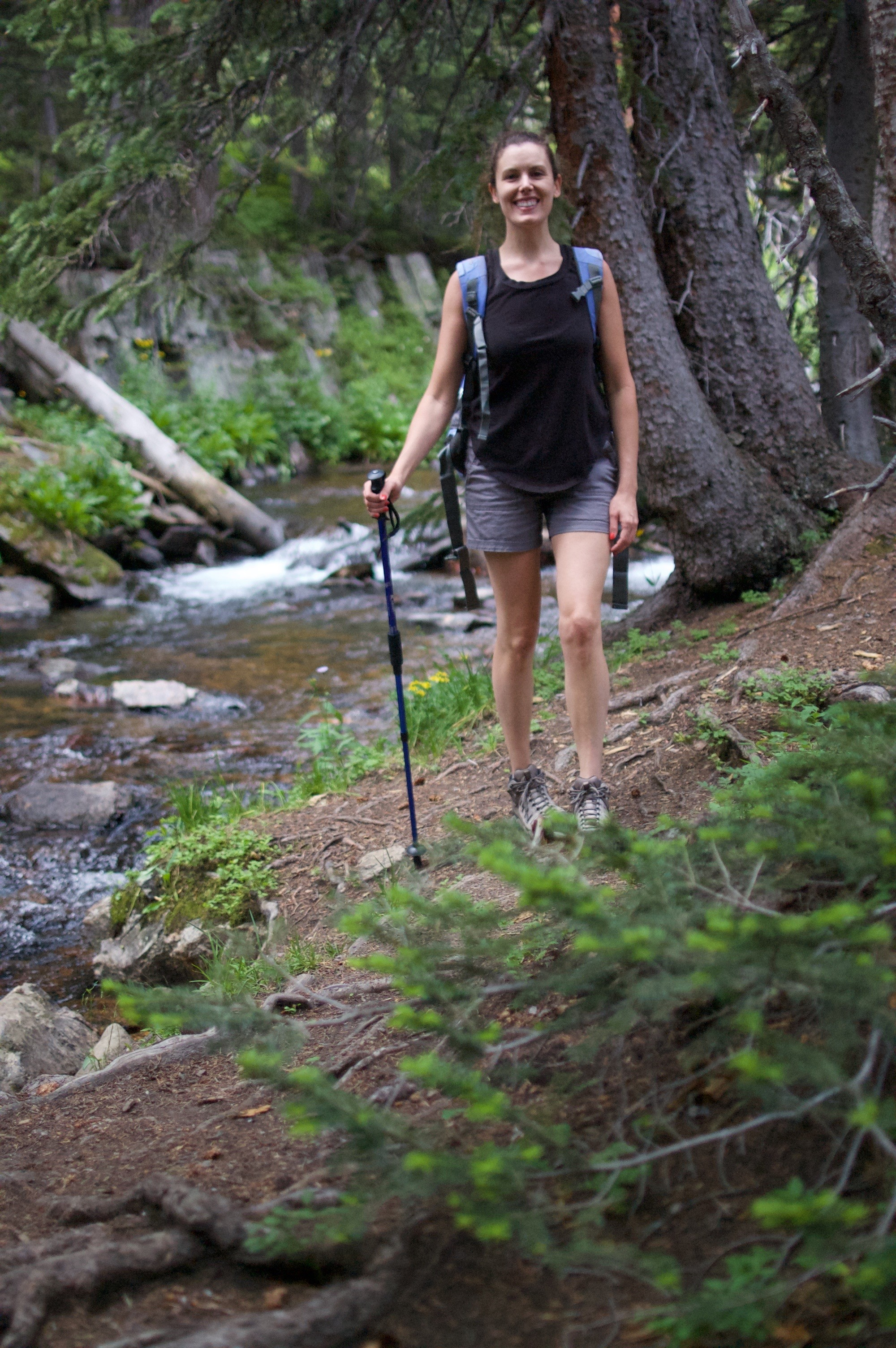 Sabrina hiking