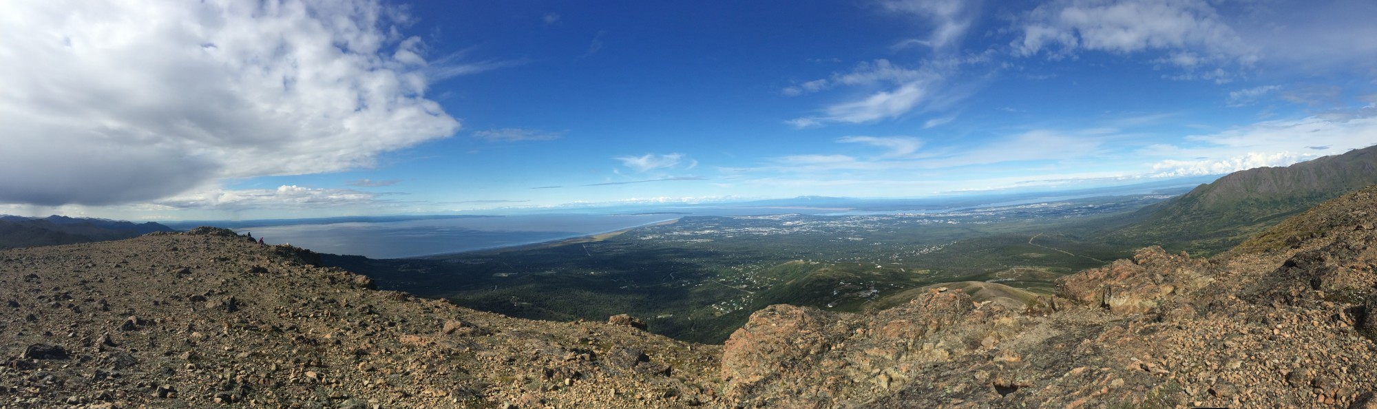Panorama view from Flattop Mountain